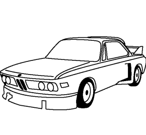 1972 BMW Coloring Page