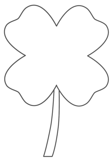 4leafclover-coloring-page
