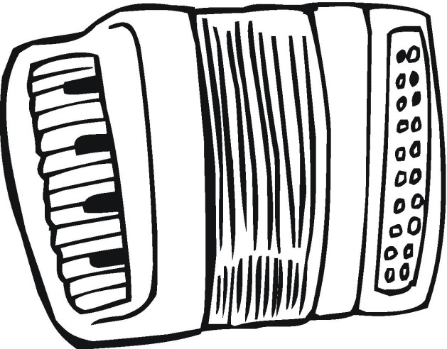 Accordion Coloring Page amp Coloring