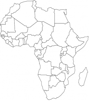 africa map for coloring
