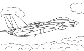 Air Force Jet Coloring Page & Coloring Book