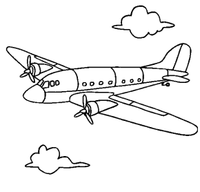 airplane coloring page - Air Force Coloring Pages Printable