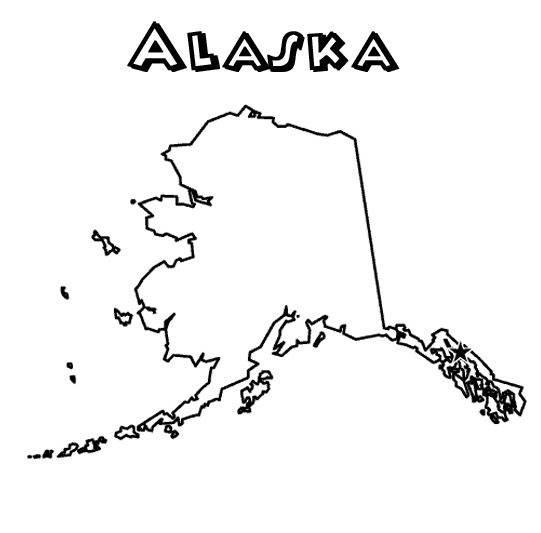 Alaska State Coloring Page amp Coloring