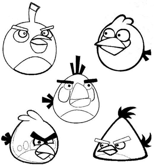 Angry Birds Movie Coloring Page & Coloring Book