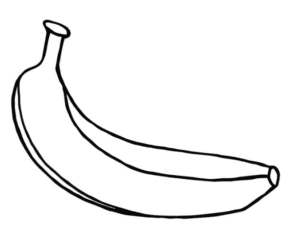 Fruit Bananas Coloring Page Banana Kiwi