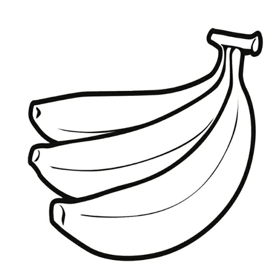 Bananas coloring page coloring book for Banana color page