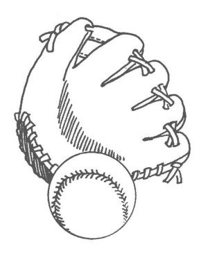 baseball-and-glove-coloring-page