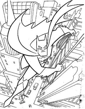 Batman Head Coloring Page Book