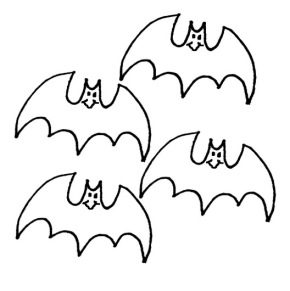 spooky bat coloring pages - photo#38