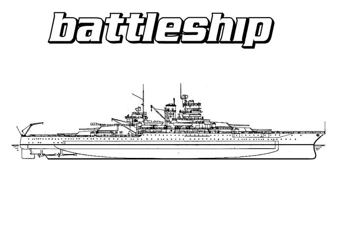 Battleship Coloring Page & Coloring Book