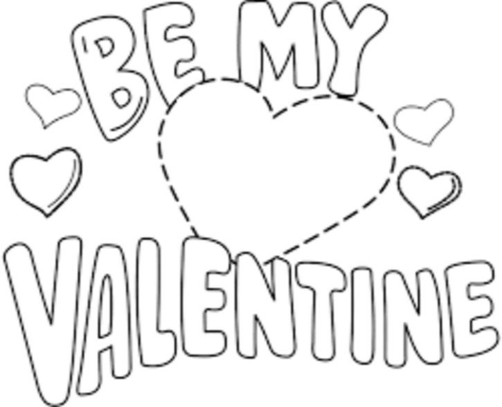 valentine coloring stationary pages | Be My Valentine Printable & Coloring Book