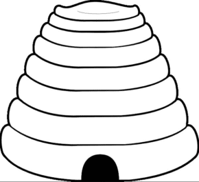beehive-coloring-page