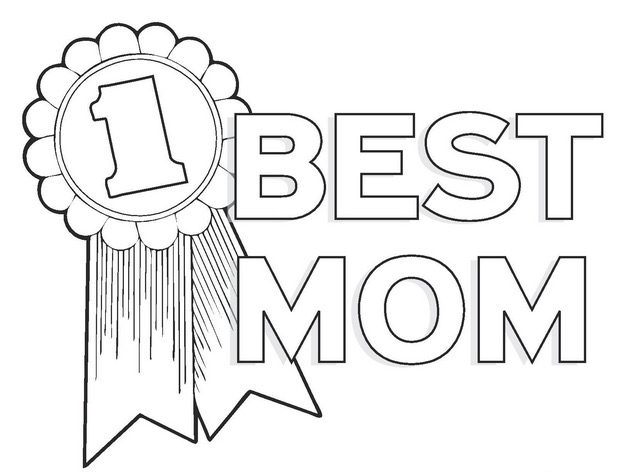 Best Mom Coloring Page