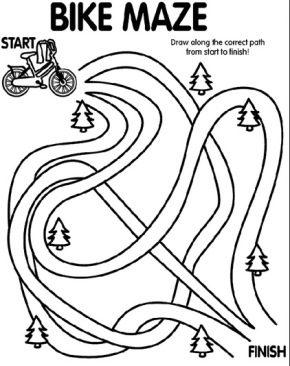 bike-printable-maze