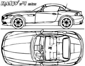 BMW Concept Car Coloring Page