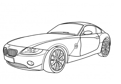 jaguar old racing car coloring page