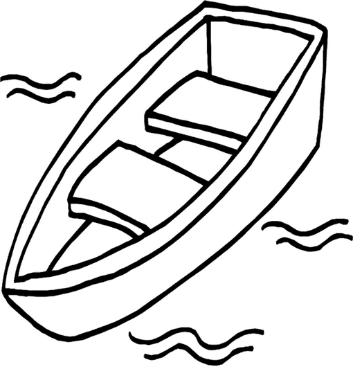 boat_coloring_page - Boat Coloring Pages