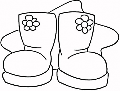 Boots Coloring Page Coloring Page Book