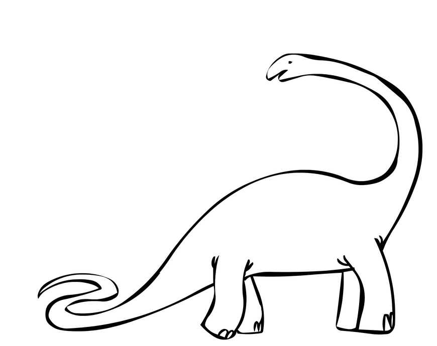 Brontosaurus & Coloring Book