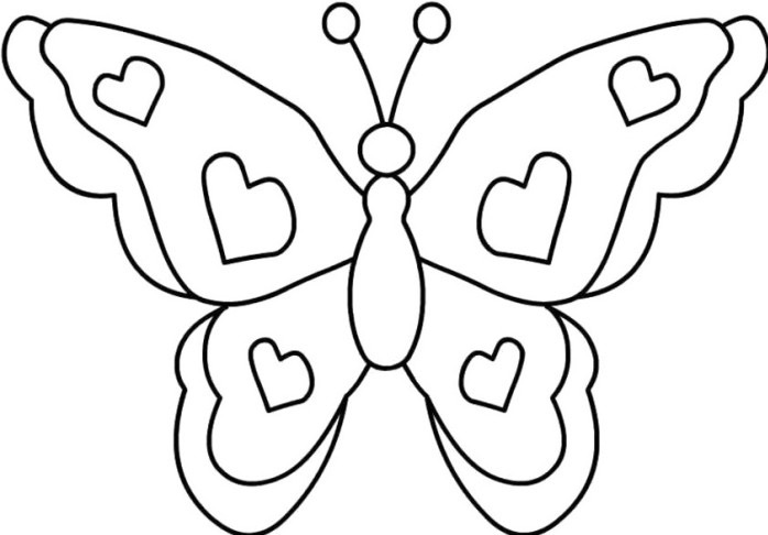 Butterfly Coloring Page & Coloring Book