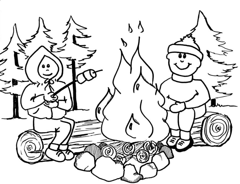 Campfire Coloring Book