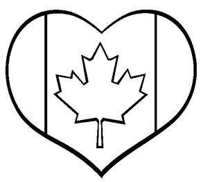 Canada i love canada map of canada coloring page for Flag heart coloring page