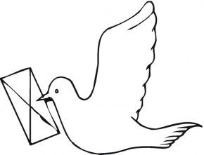 carrier-pigeon-coloring-page