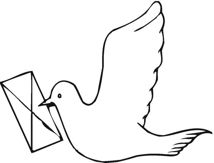 Carrier Pigeon Coloring Page Amp Coloring Book