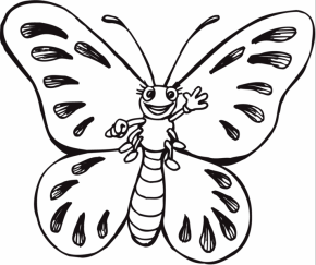 Cartoon Butterfly Coloring Page Caterpillar Coloringpage