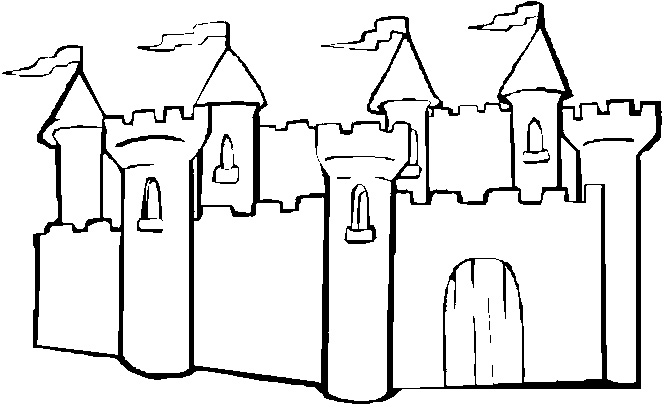 Coloring Castle Alphabet Pages : Sand castle coloring page book