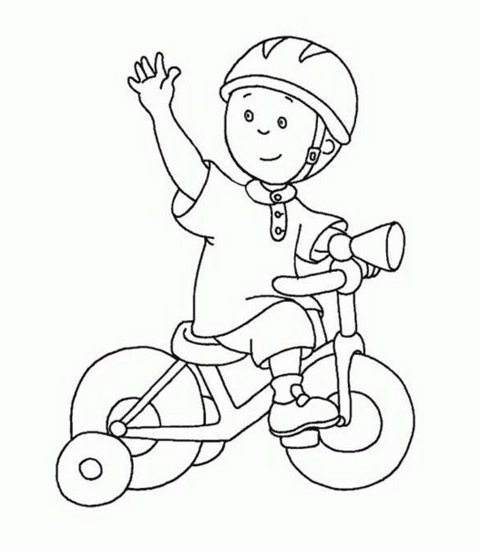 Child Riding Bike Coloring Page