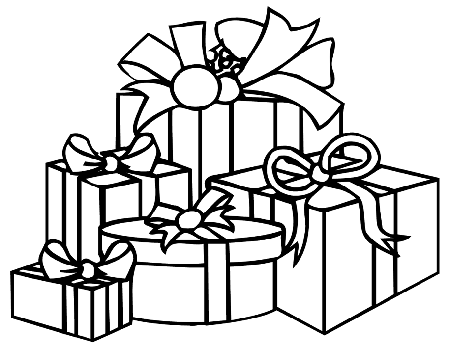 Christmas Presents Coloring Page Coloring Page Book