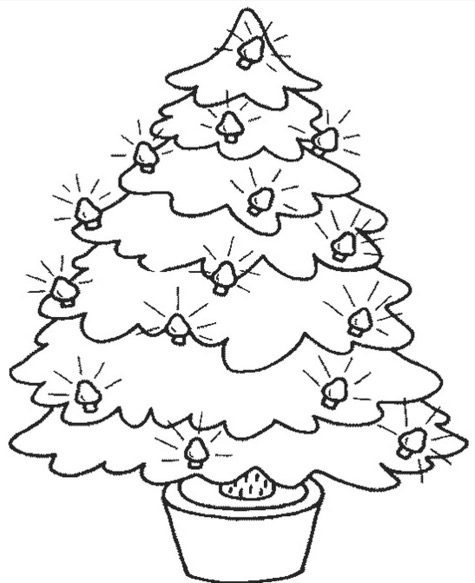 Printable Christmas Tree Coloring Page Coloringpagebook Com