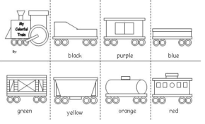 color train coloring page