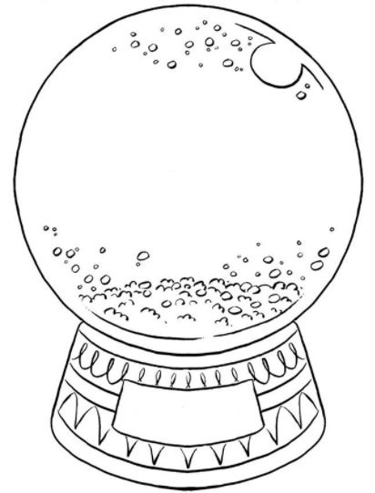Create Your Own Snow Globe Coloring Book