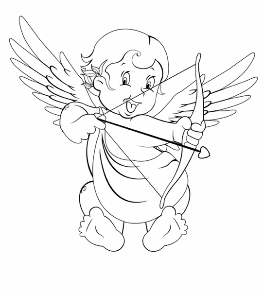 cupid coloring book pages - photo#8