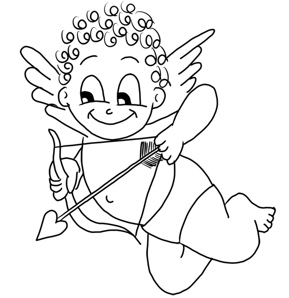 cupid coloring book pages - photo#16
