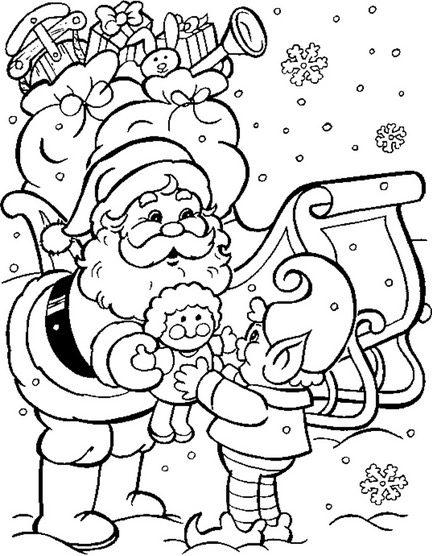 December Santa Coloring Page Coloring Book