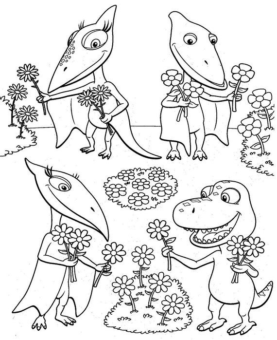 Dinosaur Train Coloring Page & Coloring Book