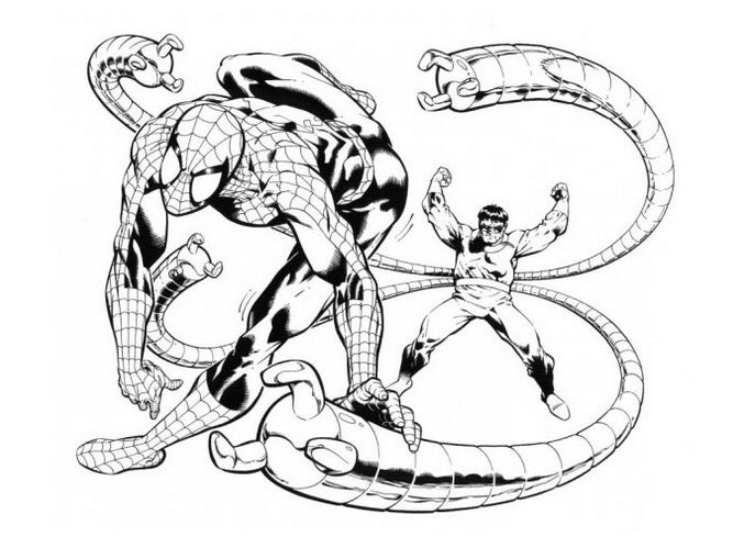 Doctor Octopus Spiderman Coloring Page