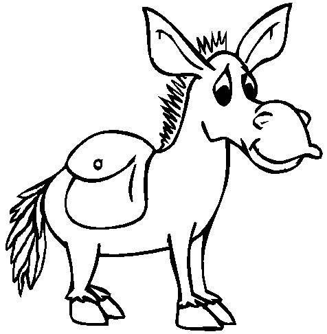 Free Donkey Coloring Page, Download Free Clip Art, Free Clip Art ... | 486x476