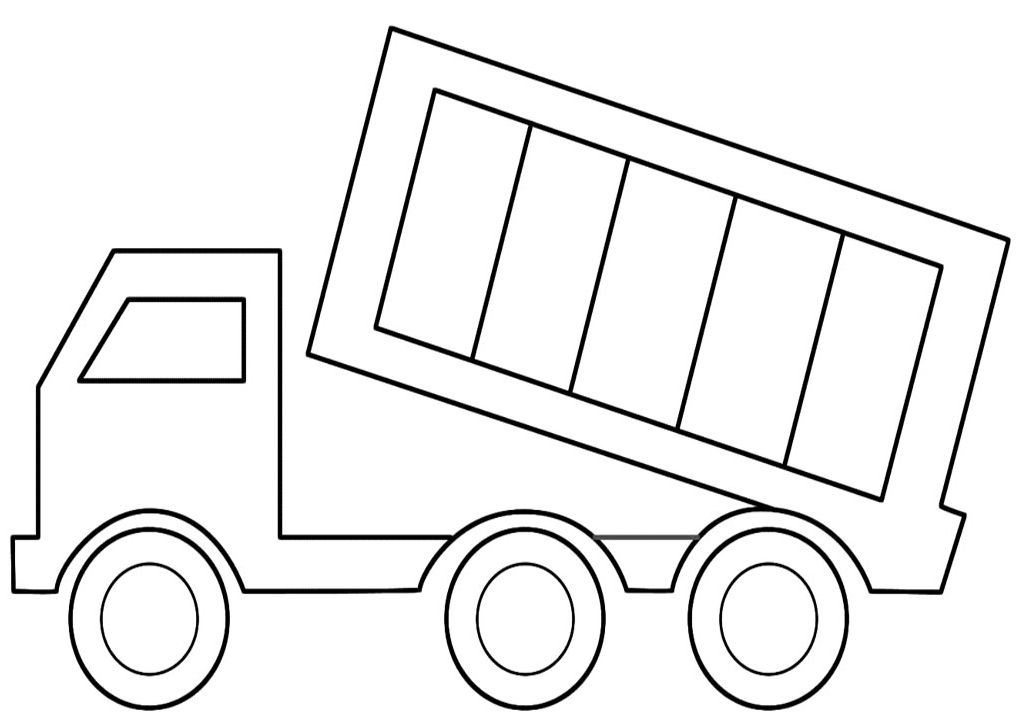 dump truck coloring page - Coloring Pages Of Trucks