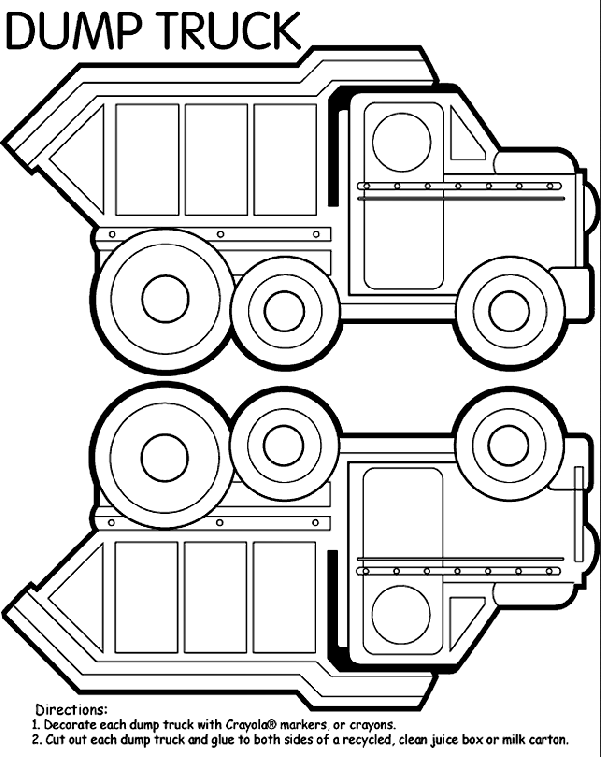 Dump Truck Coloring Page Coloring Book