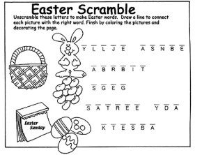 Easter Page 2: Printable Easter Activity Sheet, Easter ...
