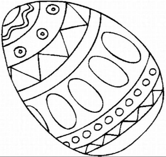 Easter Egg Coloring Page Amp Coloring Book