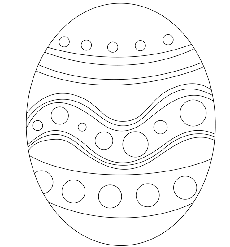 Easter Egg Printable Coloring Page Coloring Book