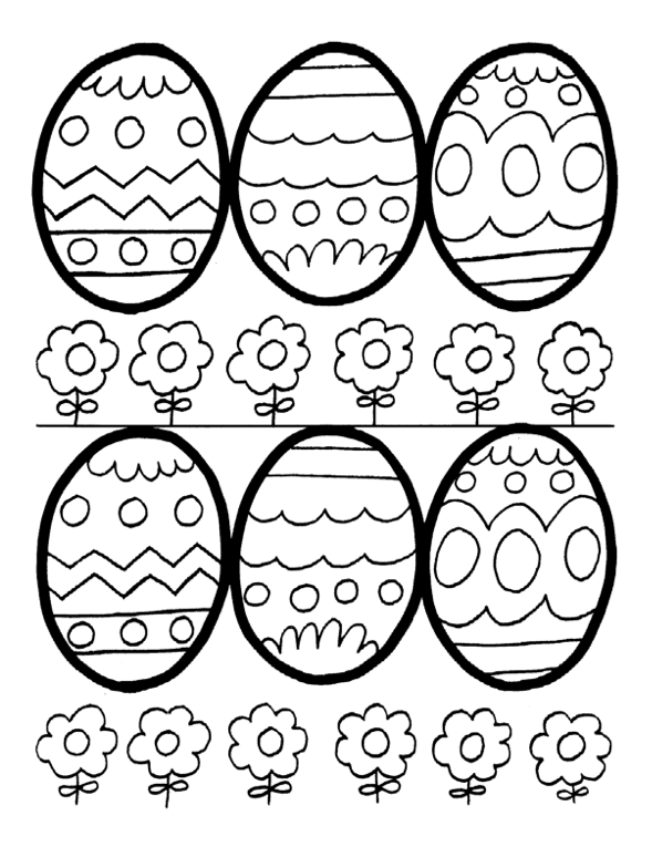 Easter Eggs Coloring Page Coloring Page Book