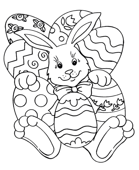 Easter Rabbit Coloring Page Coloring Page Book