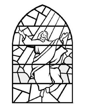 Easter Sunday Jesus Coloring Page