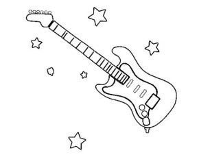 electric guitar coloring page2